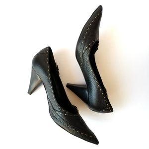 FENDI   Pebbled Leather Stitch Heels